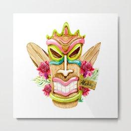 Colorful Tiki Metal Print