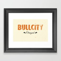 Bull City Framed Art Print