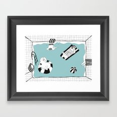 SWIM CLUB Framed Art Print