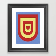 HEART SHIELD Framed Art Print