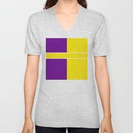 Team Colors 6....Yellow,purple Unisex V-Neck