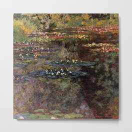 Claude Monet Pool With Water Lilies 1904 Metal Print