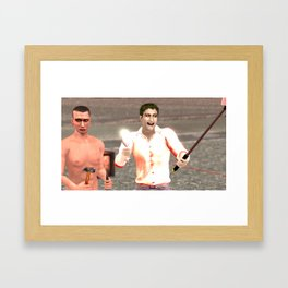 SquaRed: Smile Framed Art Print
