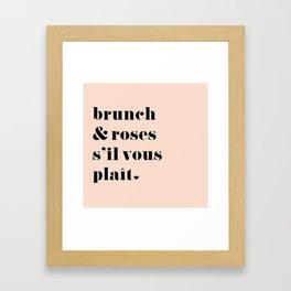 Brunch & Roses Framed Art Print