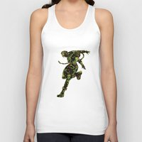street fighter Tank Tops featuring Street Fighter Cammy by vanityfacade