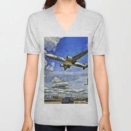 Airliner Vincent Van Gogh Unisex V-Neck
