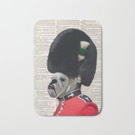 The Queen's Guard Bulldog Print, Bulldog print, English Bulldog, British Bulldog Art Print, vintage Bath Mat