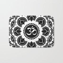 Black and White Mandala | Flower Mandhala Bath Mat