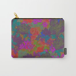 Retro Floral Carry-All Pouch