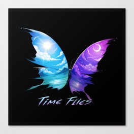 TIme Flyes Canvas Print