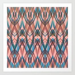 Abstract geometric wave . Art Print