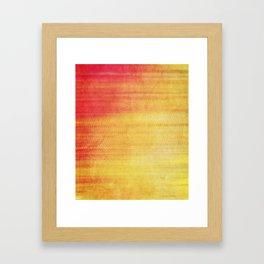Color Burst - Sunset Ring Framed Art Print