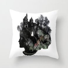 The Widowed Ghost Throw Pillow