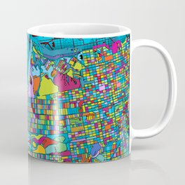San Francisco Color Burst Coffee Mug