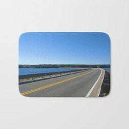 Scituate Reservoir, Rhode Island Ashland Causeway Photograph #6 by Jeanpaul Ferro Bath Mat