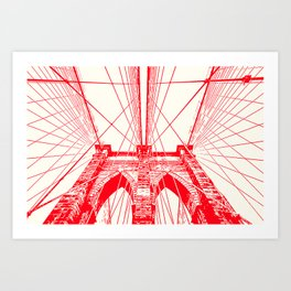 New York, Brooklyn Bridge Art Print