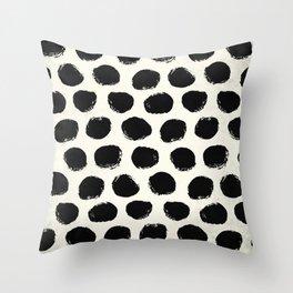 Urban Polka Dots Throw Pillow