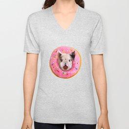 Pig Strawberry Donut Unisex V-Neck