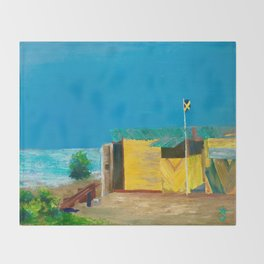 Jamaica. Jamaican Blues Throw Blanket