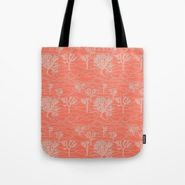 Joshua Tree Landscape in Sunset Orange Tote Bag