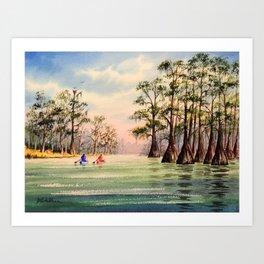 Suwannee River Florida Canoeing Art Print