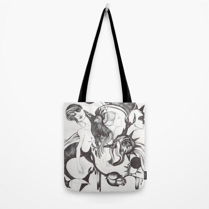 Retrato de Sirena Tote Bag