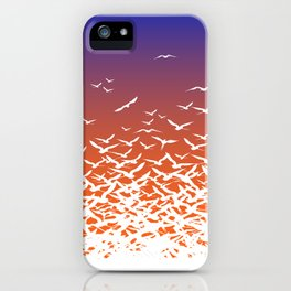 Bird Frenzy at Sunrise iPhone Case