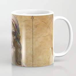 Vintage Drawing of Jesus Christ - Religious Coffee Mug