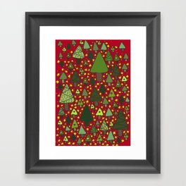 Small Trees Framed Art Print