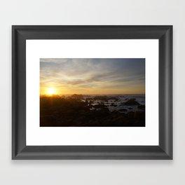 SUNSET - MONTEREY CALIFORNIA Framed Art Print
