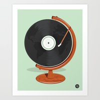 record Art Prints featuring World Record by Ryder Doty