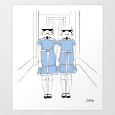 Grady twins troopers Art Print