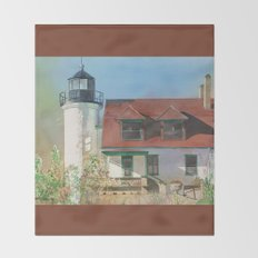 Point Betsie Lighthouse Throw Blanket