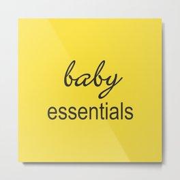 Baby Essentials Pantone 2016-Buttercup Metal Print