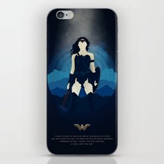 I used to want to save the world. - Diana Prince iPhone Skin
