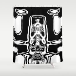 Mono alien Shower Curtain