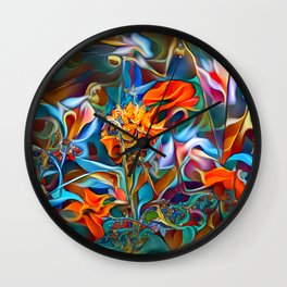 Psychedelic Plants Wall Clock