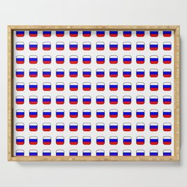 Flag of russia -with soft square Serving Tray