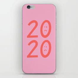 2020 Unhappy Emoji Year iPhone Skin