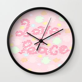 Love And Peace Wall Clock