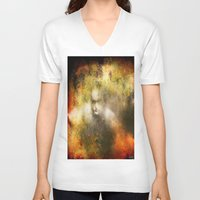 ghost V-neck T-shirts featuring Ghost  by Ganech joe