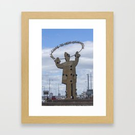 Welcome to New Brighton Framed Art Print
