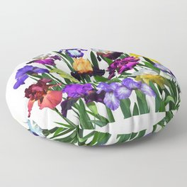 Iris garden Floor Pillow