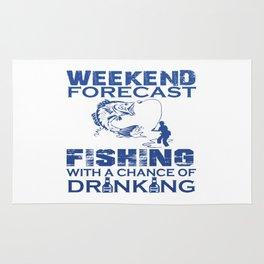 WEEKEND FORECAST FISHING Rug