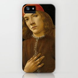 """Sandro Botticelli """"Portrait of a Young Man"""" (I) iPhone Case"""