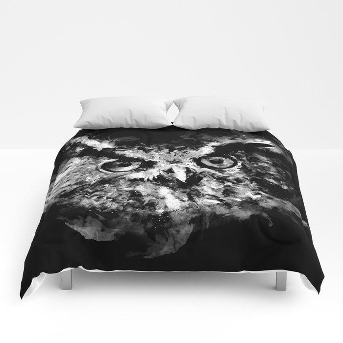 owl perfect black white Comforters