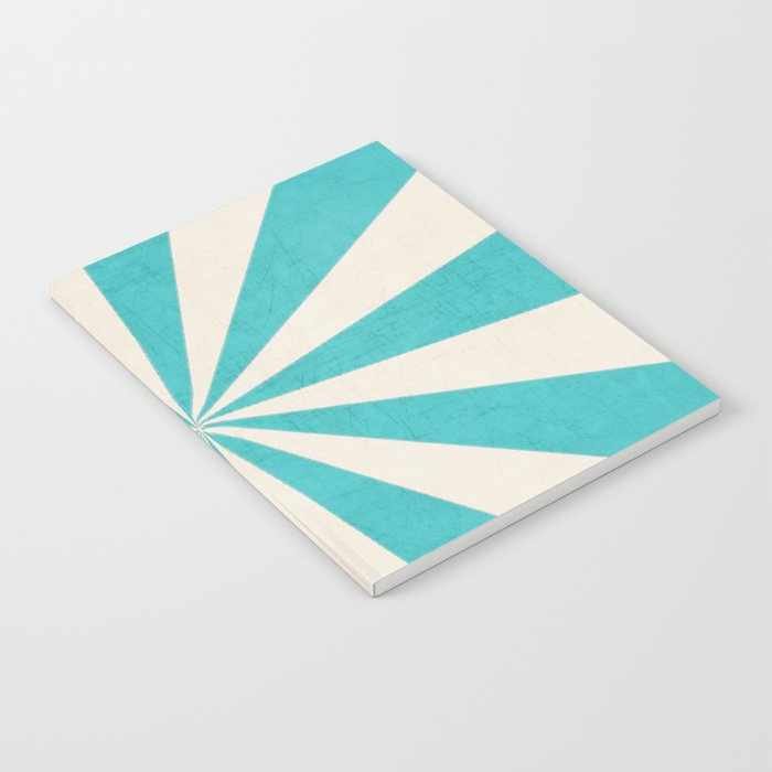 aqua starburst Notebook