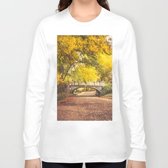 Autumn Path - Central Park - New York City Long Sleeve T-shirt