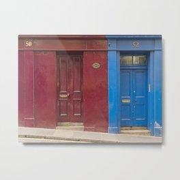 Red or blue ?  Greyfriars Edinburgh Scotland city Metal Print