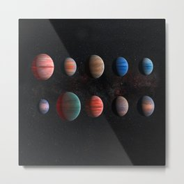 Exoplanets in the cosmos Metal Print